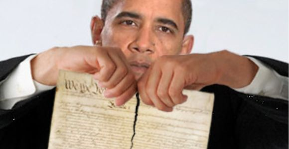 President Obama Rips Up the Constitution