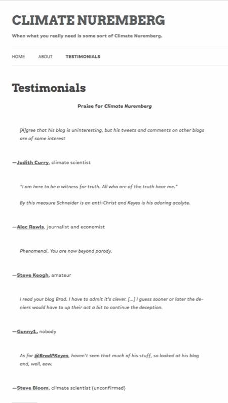 Climate Nuremberg Testimonials